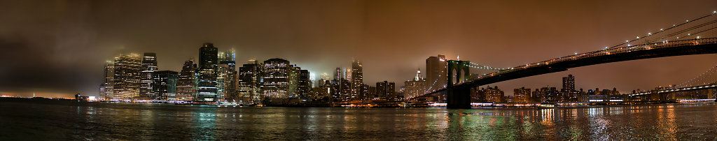 Lower Manhattan In Fog